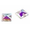 Crystal Sew-on Stone Square 10mm(4pcs) Crystal Aurora Borealis